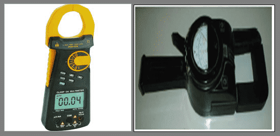 A view of clamp meter