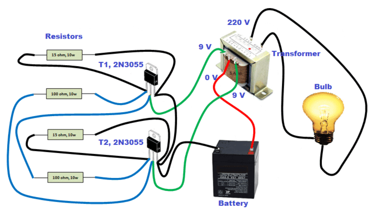 How to Make Simple Inverter at Home - Circuit & Step by Step ... Inverter Wiring Diagram on