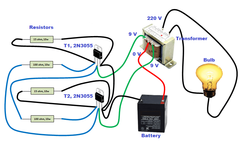 circuit diagram for making inverter at home