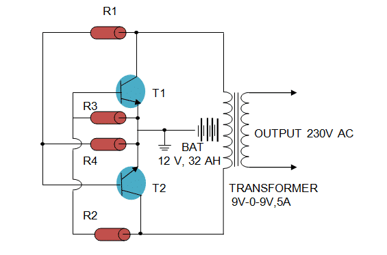 Circuit Design for Making an Inverter at Home