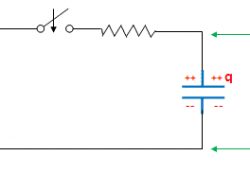 Capacitor charging and discharging cycle
