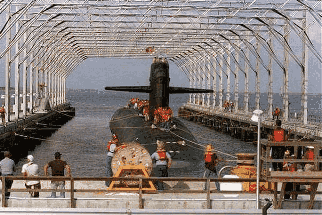 Deperming of Submarine