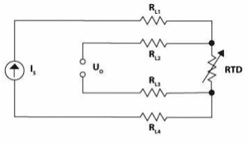 Four Wire Configuration of Resistance Temperature Detector