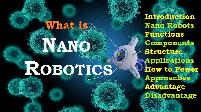 Nano Robots - Component, Powering & Manufacturing Method, Application