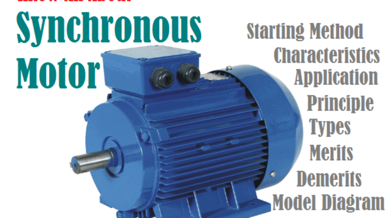 Synchronous Motor - Construction, Principle, Types ... on