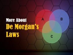 De Morgan's Laws – First and Second Law, Verification and Applications